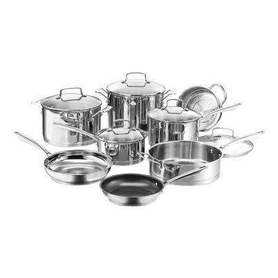 Professional Series 13-Piece Stainless Steel Cookware Set with Lids