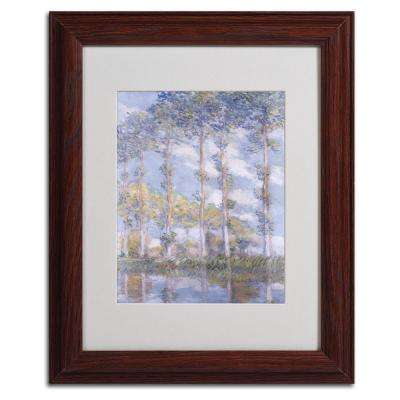 11 in. x 14 in. The Poplars Matted Brown Framed Wall Art