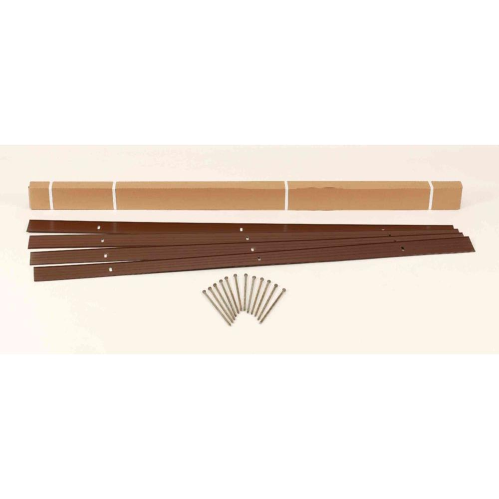 24 ft. x 4 in. Brown Aluminum Landscape Edging Project Kit