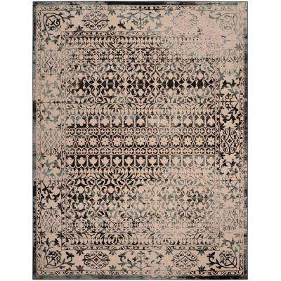 Brilliance Cream/Dark Gray 9 ft. x 12 ft. Area Rug