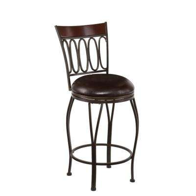 Wilmer 25 in. Dark Champagne Swivel Cushioned Bar Stool