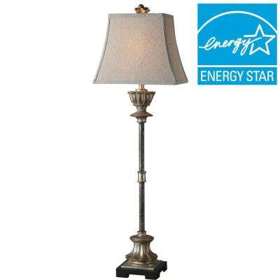 38 in. Silver Champagne Buffet Lamp