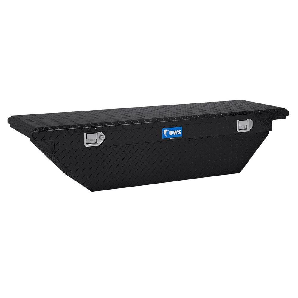 60 in. Aluminum Black Single Lid Crossover Angled Tool Box