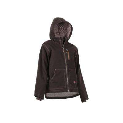 Women's Extra Large Tall Dark Brown 100% Cotton Modern Hooded Jacket