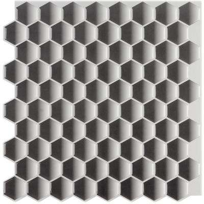 12 in. x 12 in. Peel and Stick Mosaic Decorative Wall Tile (6 sq. ft. / case)