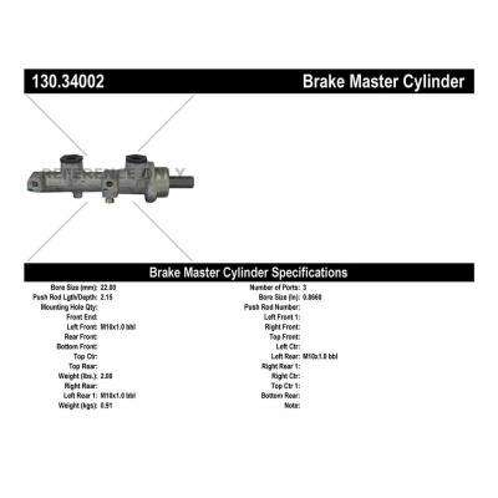 Premium Master Cylinder - Preferred