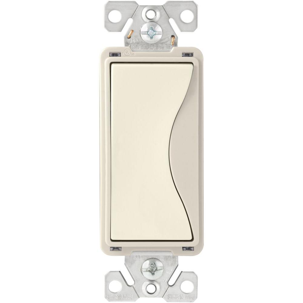 Eaton 15 Amp 120 Volt 277 Standard Grade 4 Way Decorator Rocker Leviton Decora 4way Switch Aspire Back Wire Push Desert Sand