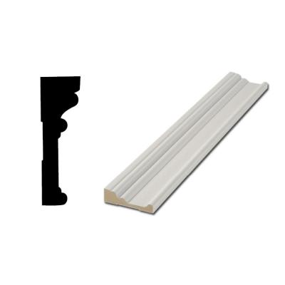 RB03 1-1/6 in. x 3-1/2 in. MDF Door and Window Casing Moulding
