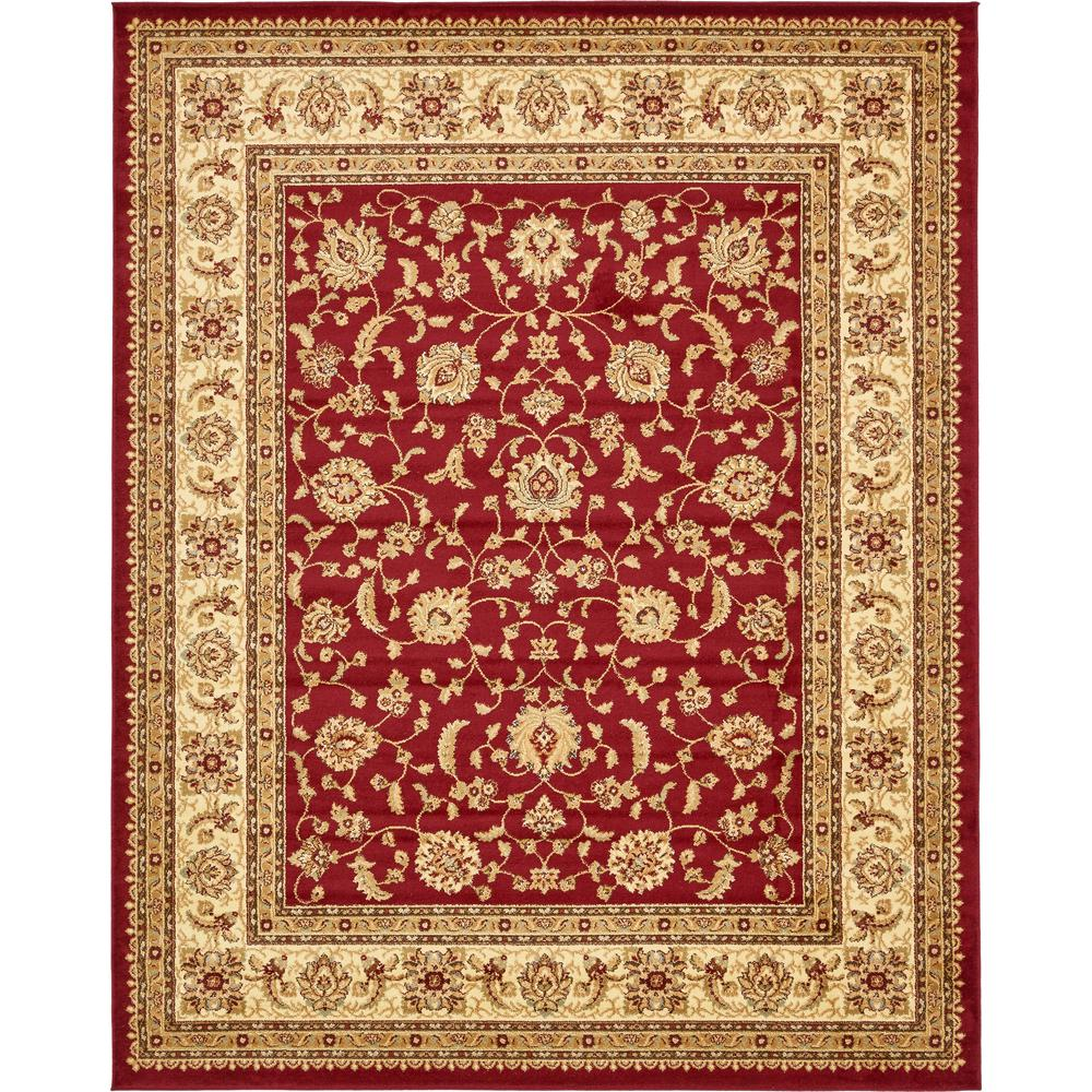 Agra Red 8 ft. x 10 ft. Area Rug