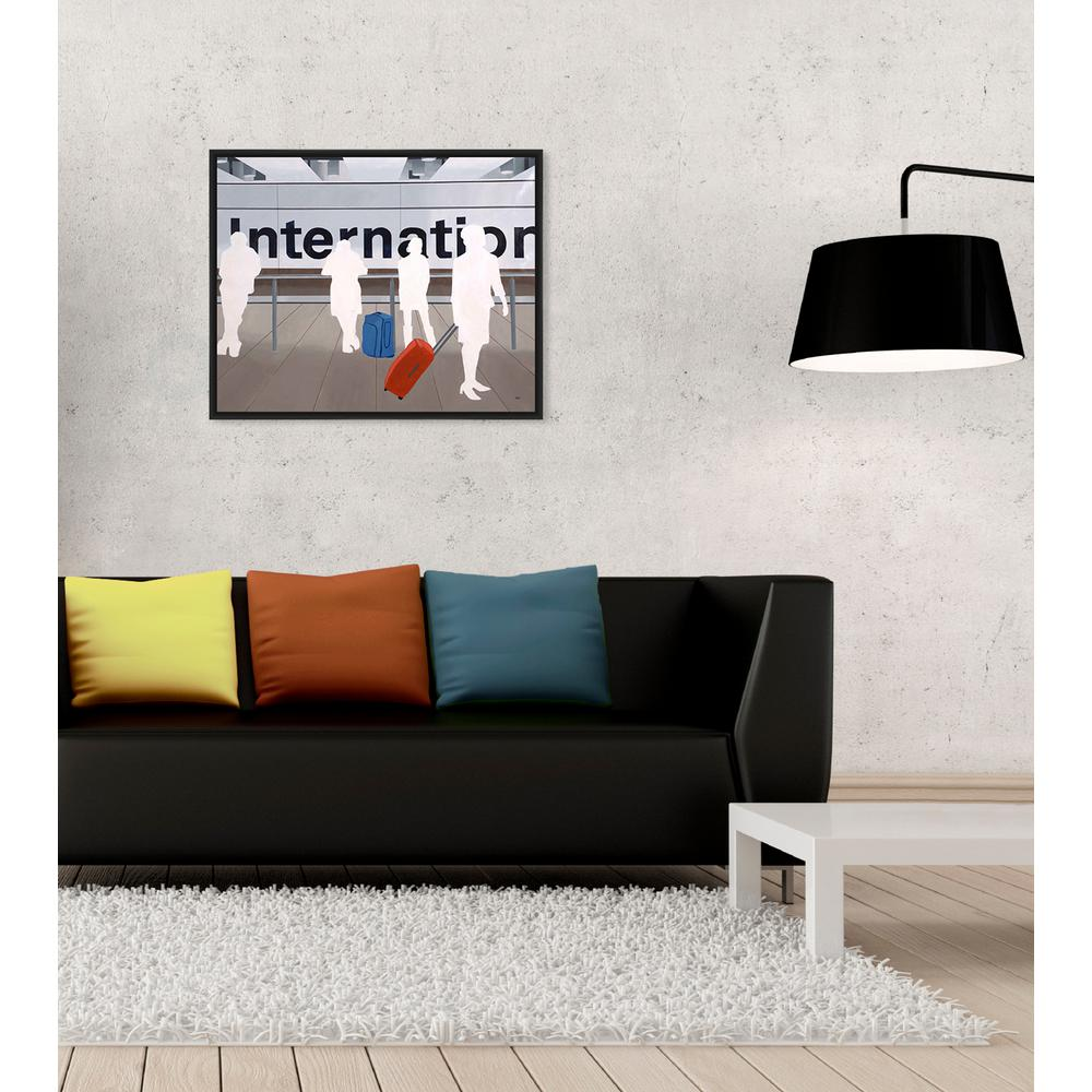 16.5 in. x 20.5 in.''International Flight'' Framed Wall Art