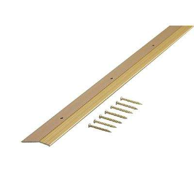 Smooth Satin Brass 1-3/8 in. x 36 in. Carpet Trim