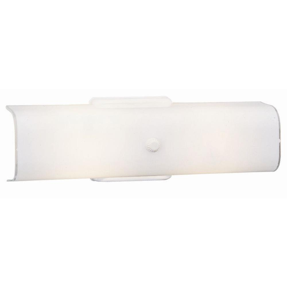 Design House 2-Light White Channel Light-501452 - The Home Depot
