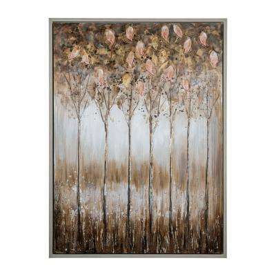 """""""Golden Alley"""" by Unknown Artist Framed Canvas Wall Art"""