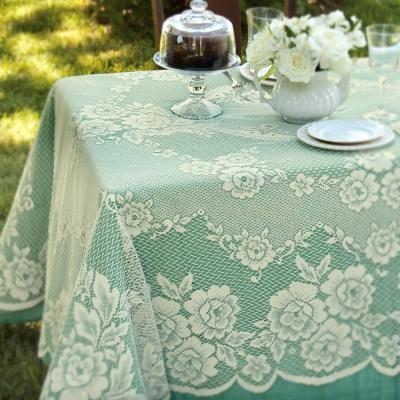 Victorian Rose Rectangle ECRU Polyester Tablecloth