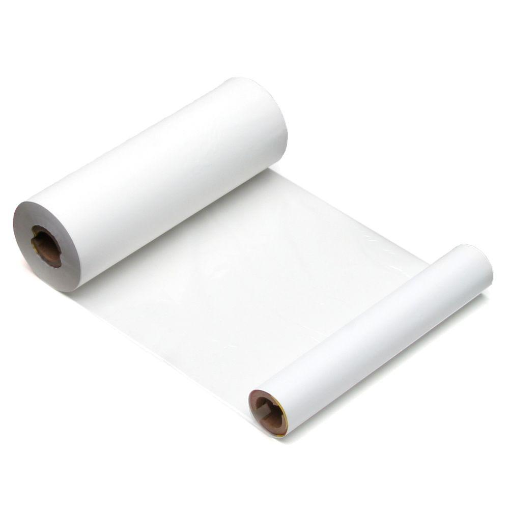 Brady MiniMark Industrial Label White Printer Ribbon (2-Pack) The Brady MiniMark Industrial Label White Printer Ribbon (2-Pack) measures 4-2/5 in. wide by 290 ft. long. This white ribbon is compatible with MiniMark printers.