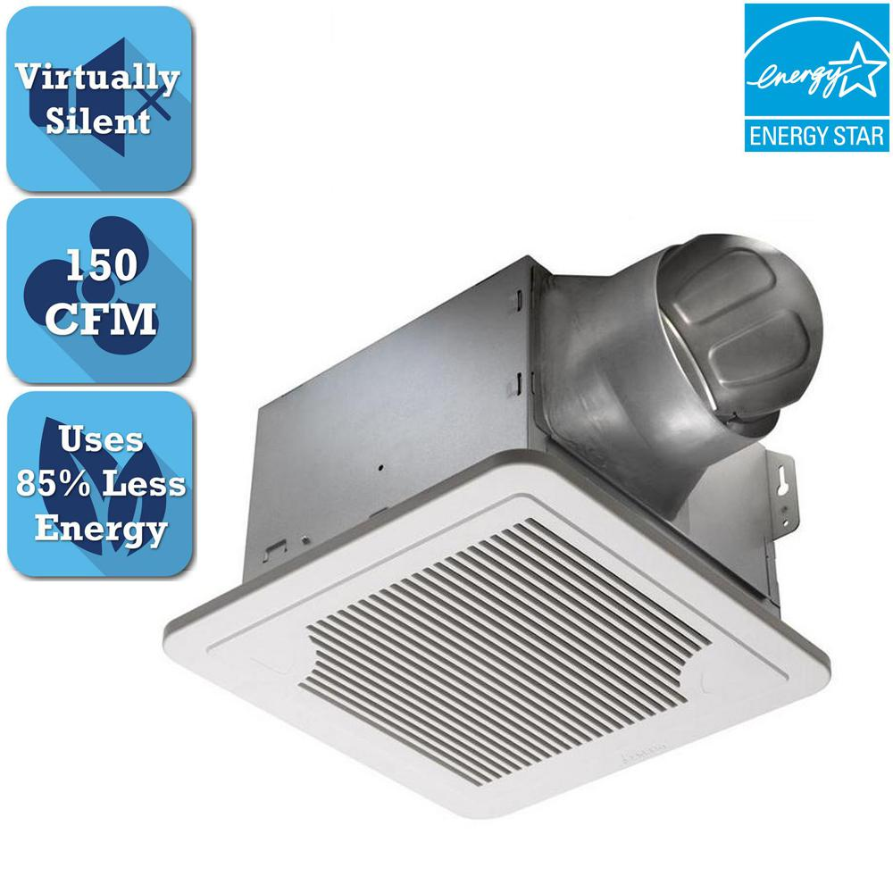 Delta breez smart series 150 cfm dual speed ceiling for 7 bathroom exhaust fan