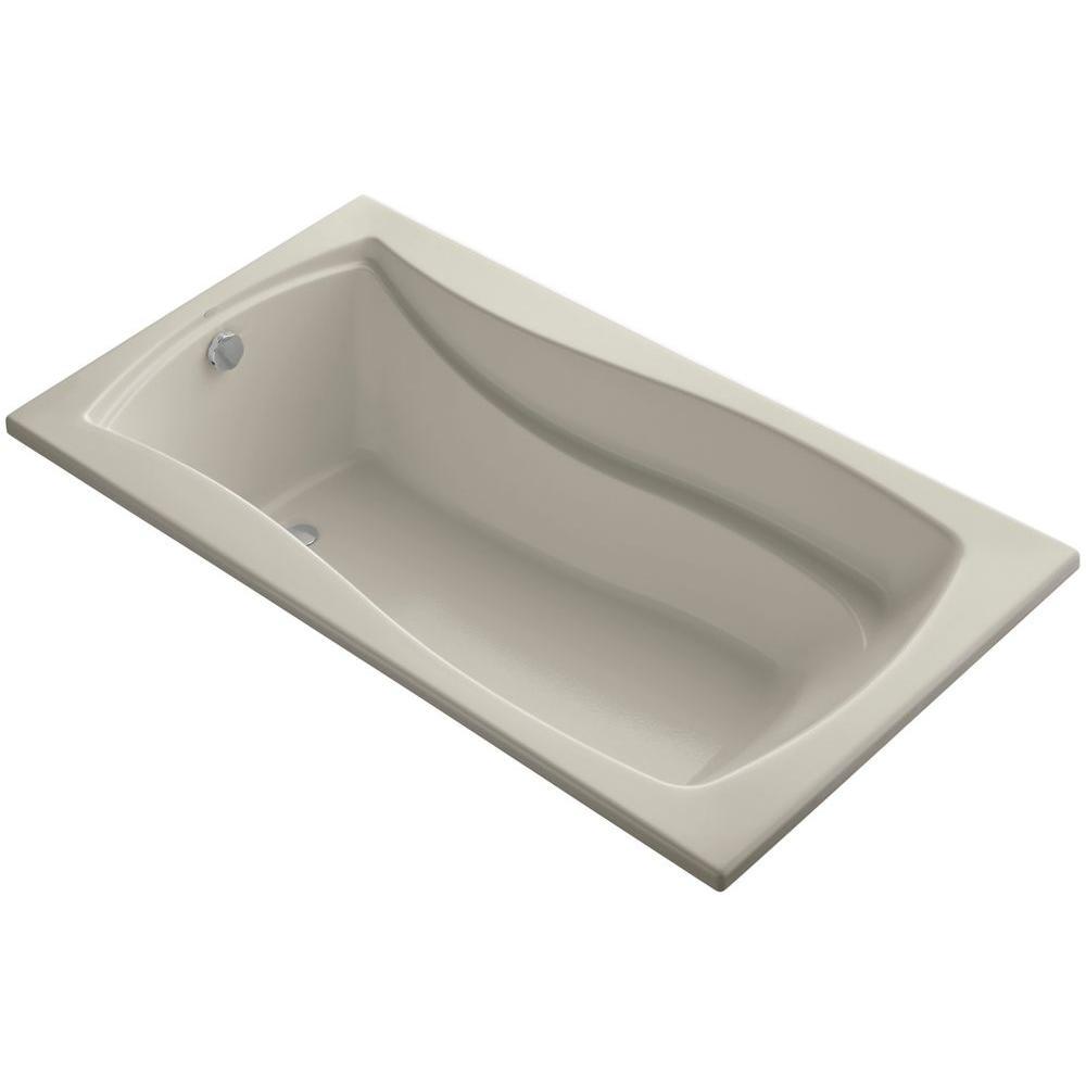Mariposa 5.5 ft. Reversible Drain Soaking Tub in Sandbar with Basked Heated Surface