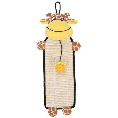 Brown / Yellow Paw-Pleasant Eco-Natural Sisal and Jute Hanging Carpet Kitty Cat Scratcher with Toy
