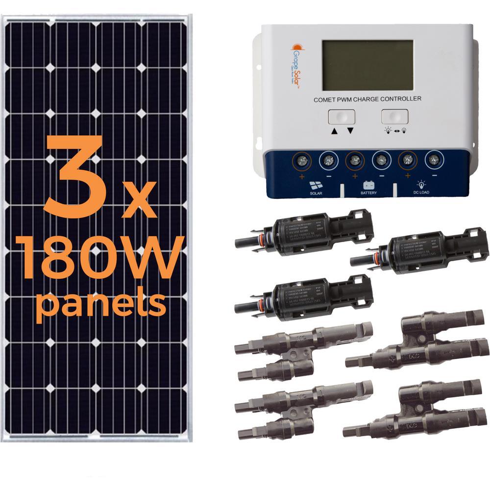 Grape Solar 540-Watt Off-Grid Solar Panel Kit