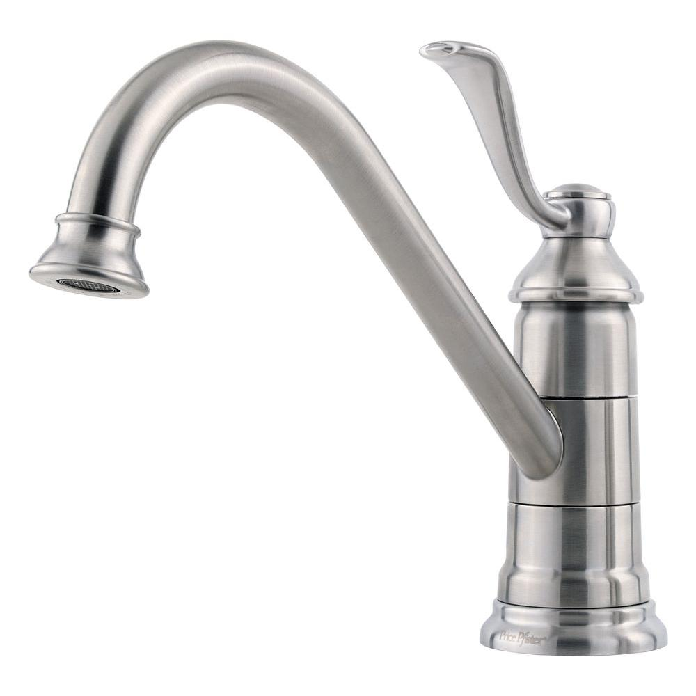 Pfister Portland Single-Handle Standard Kitchen Faucet in Stainless ...