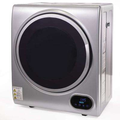 1.85 cu. ft. Portable Stainless Steel Automatic Laundry Tumble Dryer Machine with 3 Drying Modes and Timer in Silver