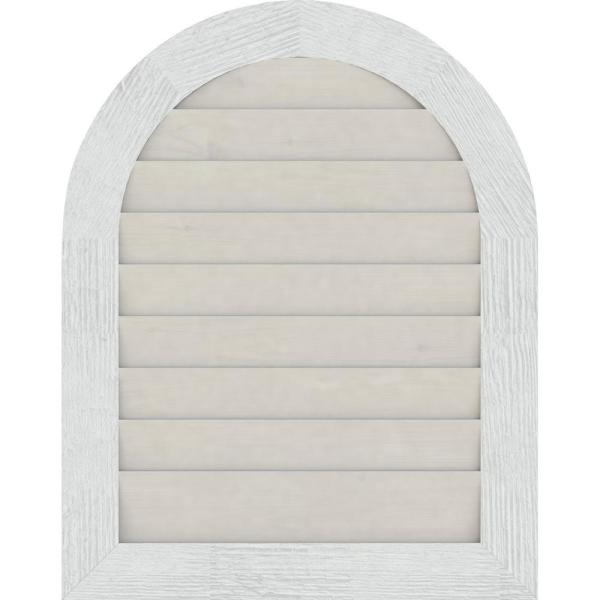 Ekena Millwork 31 X 35 Round Top Primed Rough Sawn Western Red Cedar Wood Gable Louver Vent Non Functional Gvwrt26x3002rdpwr The Home Depot