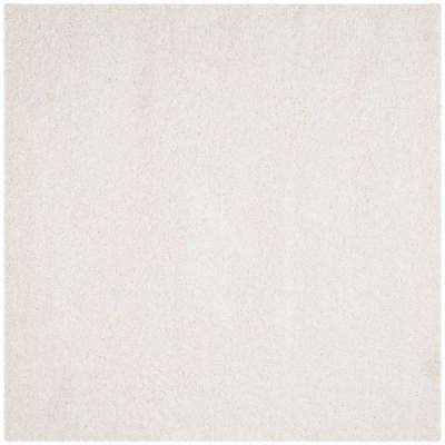 California Shag White 8 ft. 6 in. x 8 ft. 6 in. Square Area Rug