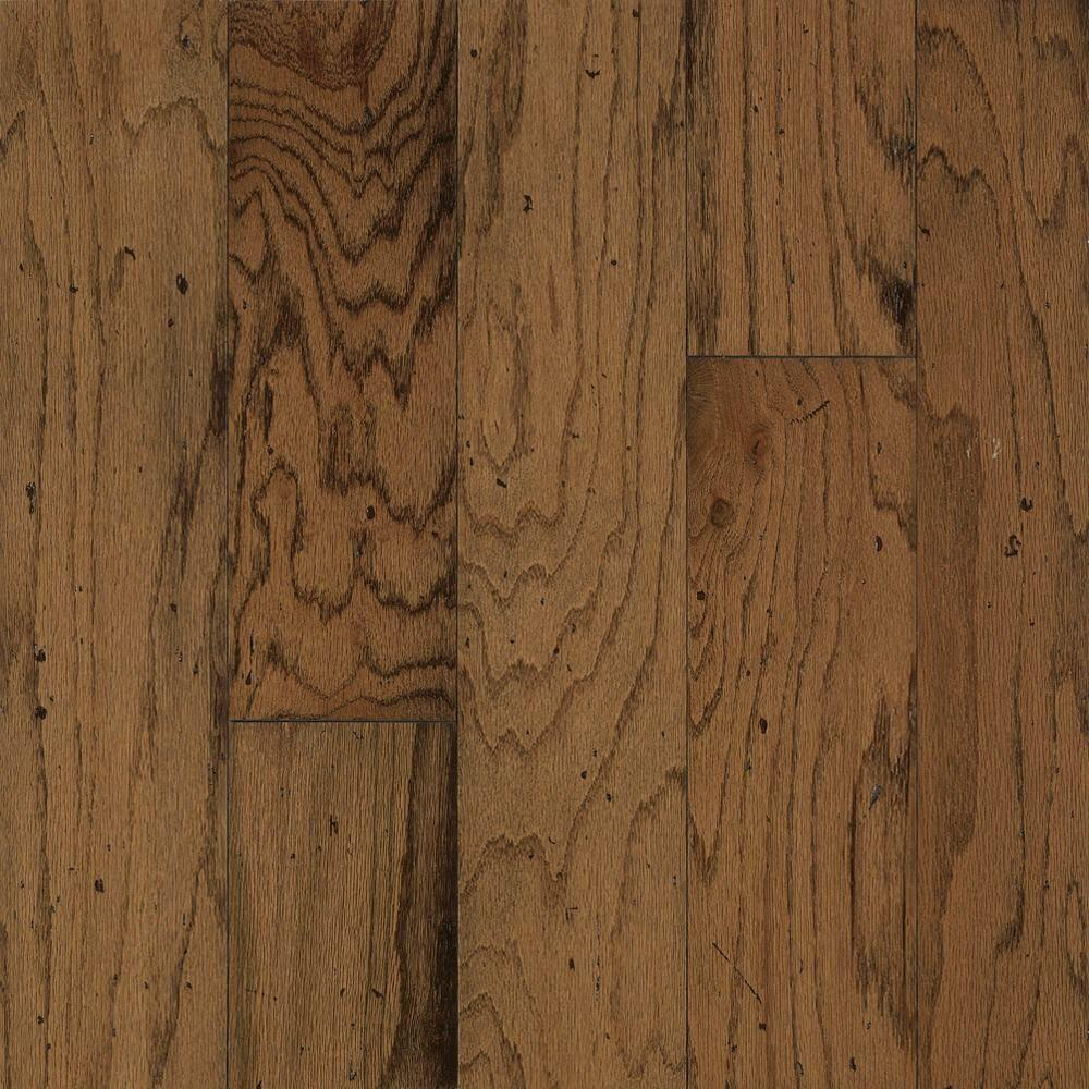 Bruce Distressed Oak Gunstock Click Hardwood Flooring 5 In X 7 Take Home Sample Br 057417 The Depot