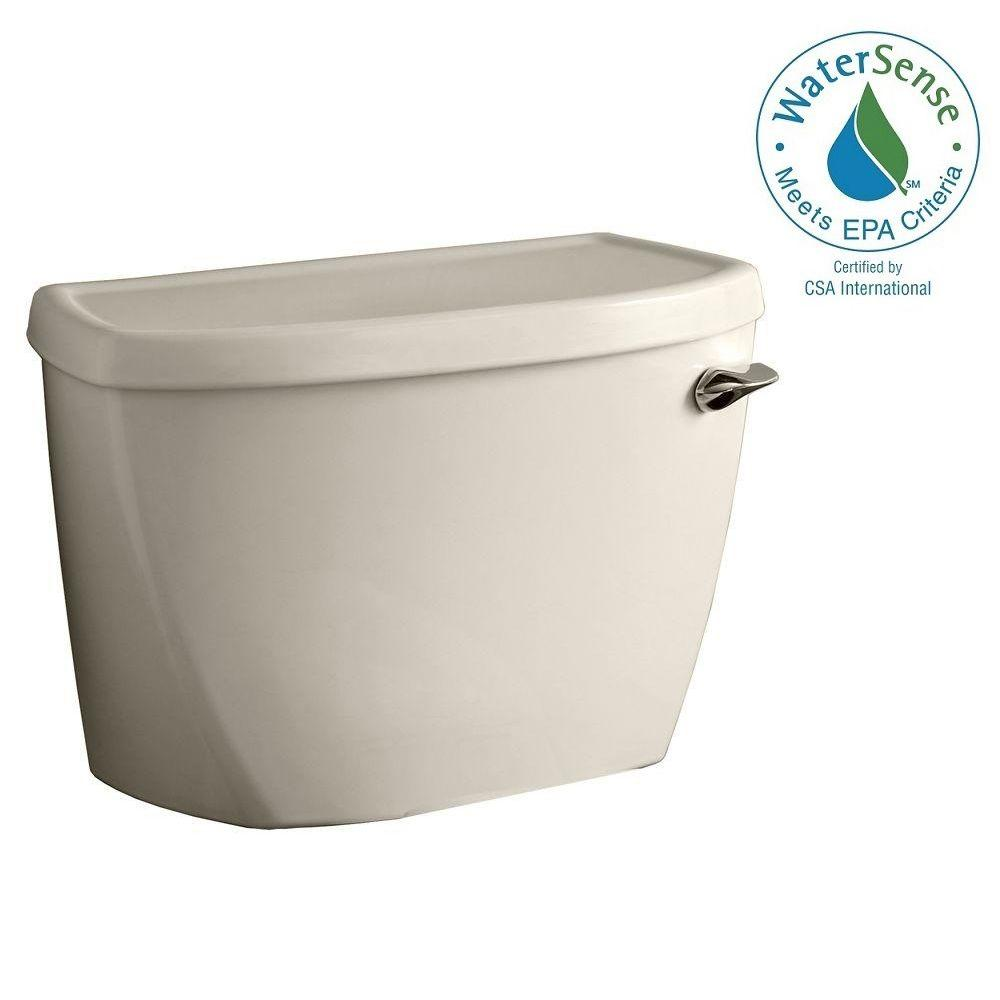 American Standard Cadet Pressure-Assisted FloWise 1.1 GPF Single Flush Toilet Tank Only with Right-Hand Trip Lever in Linen