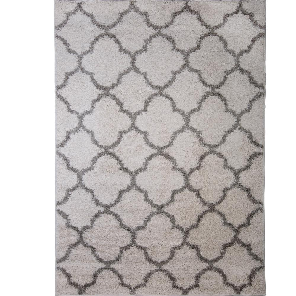 Nicole Miller Synergy Off White Gray 3 Ft X 4 Indoor Area Rug