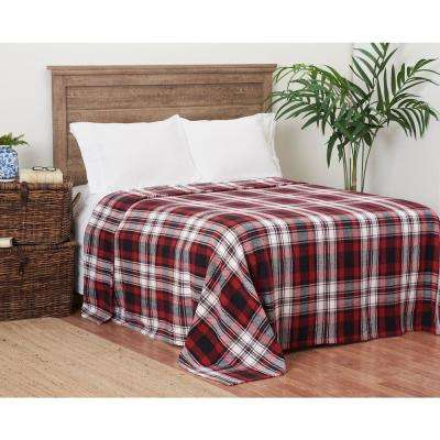 Fireside Plaid Queen Blanket