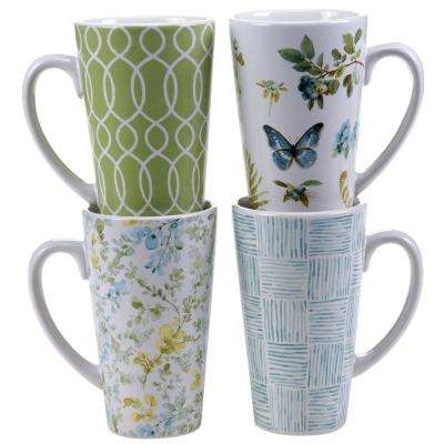 The Greenhouse 16 oz.Latte Mug (Set of 4)