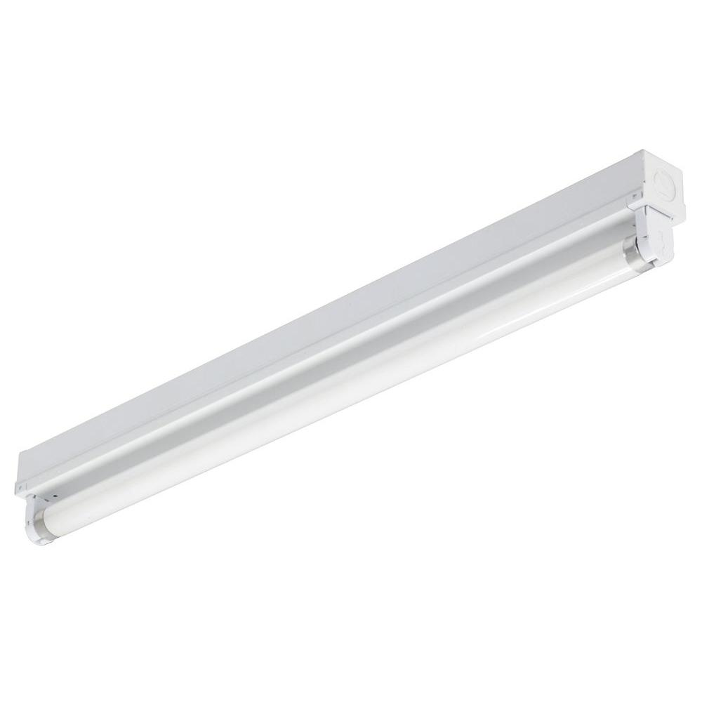 Lithonia Lighting 2 ft. 1-Light Gloss White T8 Fluorescent Strip ...