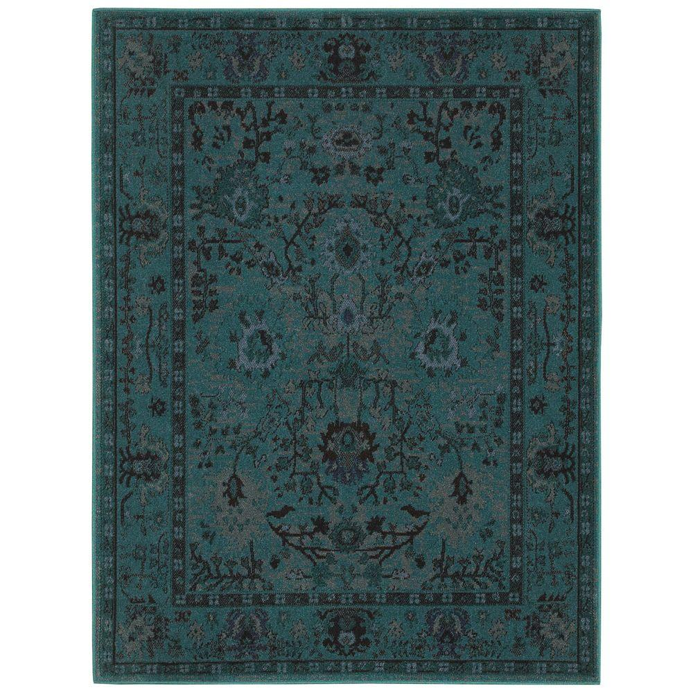Overdye Teal 5 ft. x 7 ft. Area Rug