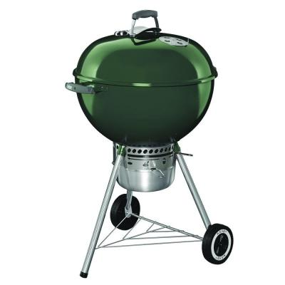 22 in. Original Kettle Premium Charcoal Grill in Green with Built-In Thermometer