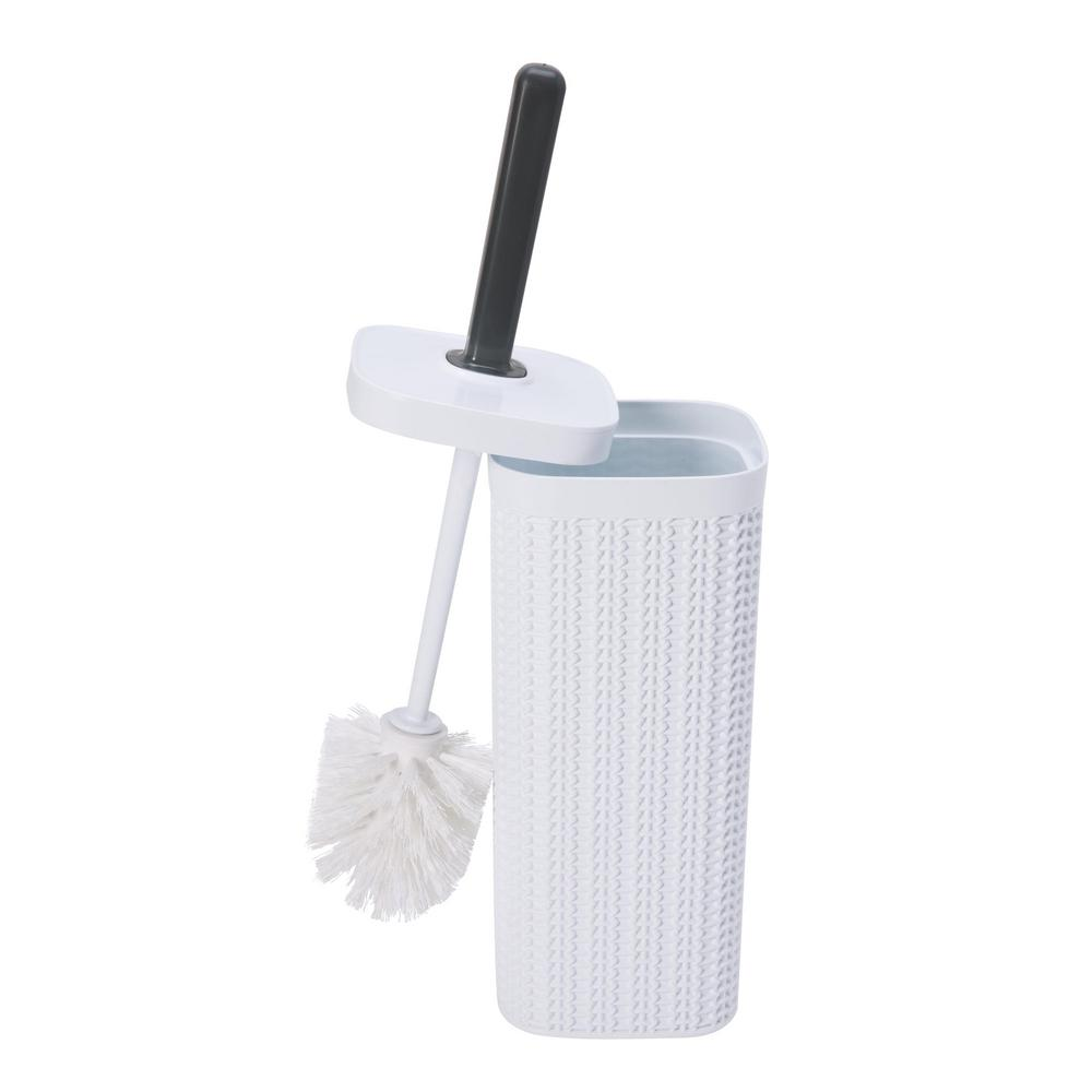 Sailor Knot Toilet Brush White with Grey Handle