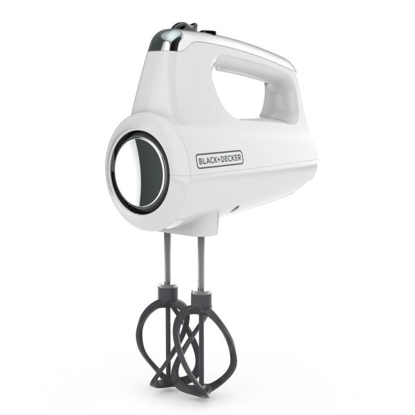 BLACK+DECKER Helix Performance Premium 5-Speed White Hand Mixer MX600W