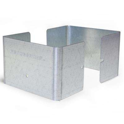 Galvanized Steel Fence Post Guard 4.5 in. L x 4.5 in. W x 3 in. H for Wood