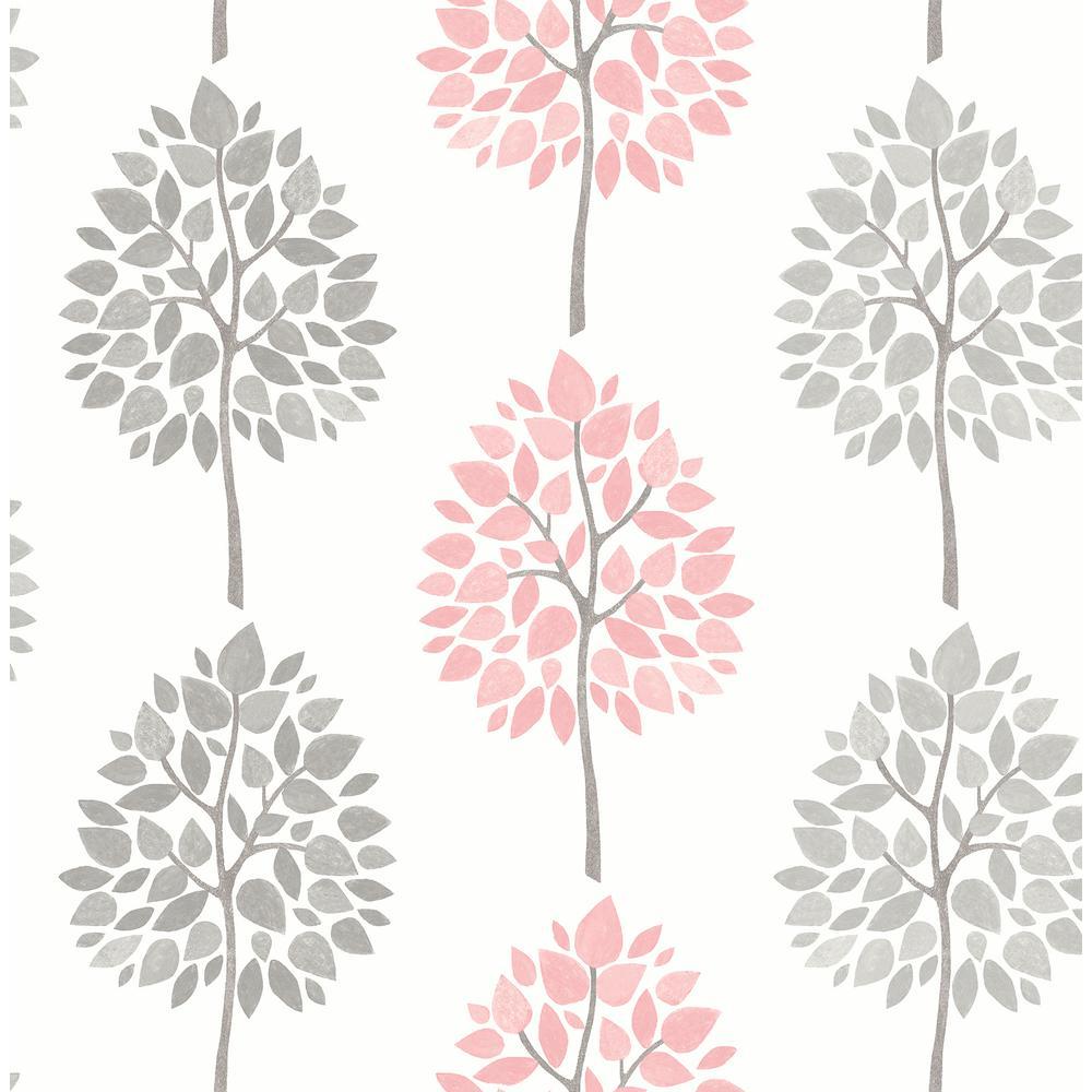 Saar Pink Tree Wallpaper