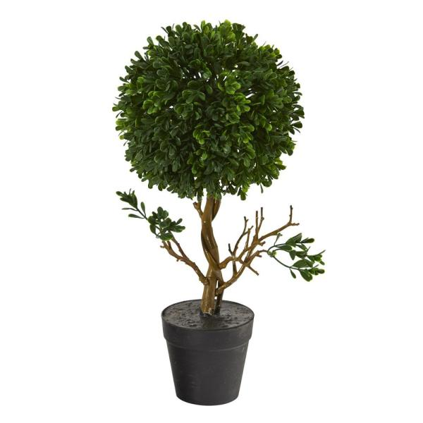 15 in. Indoor/Outdoor Boxwood Topiary Artificial Tree UV Resistant