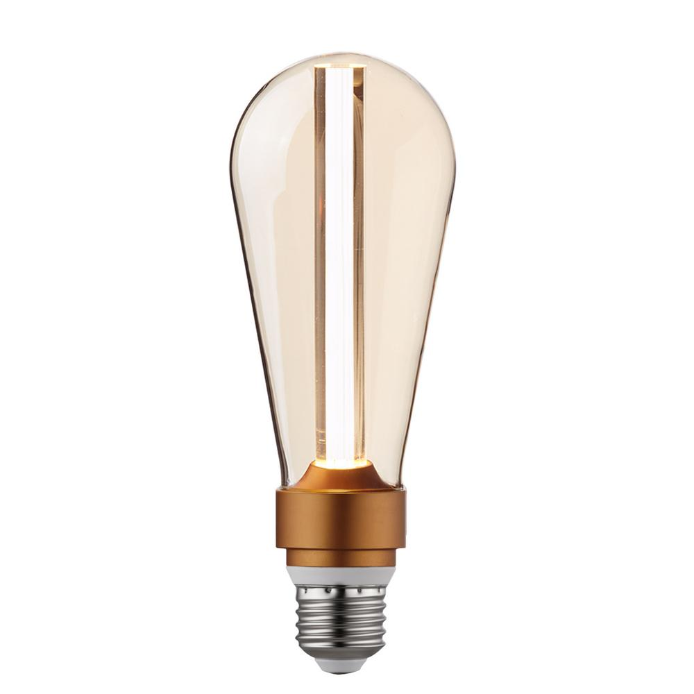 Feit Electric Led Bulbs Light The Home Depot 4ft 4 Bulb T5 Fixture With Sensor Wiring Diagram 15 Watt Equivalent St64 Dimmable Amber Glass Cool