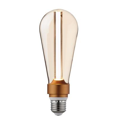 15-Watt Equivalent ST64 Dimmable LED Light Bulb with Amber Glass, Cool White