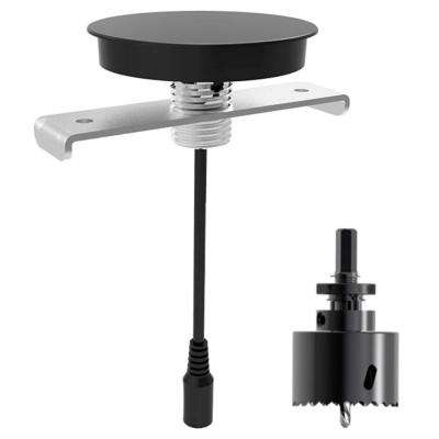 AirEnergy WPC Certified Qi Wireless Charging Pad for Furniture Embedded Installation with Drill Saw Bit, Black