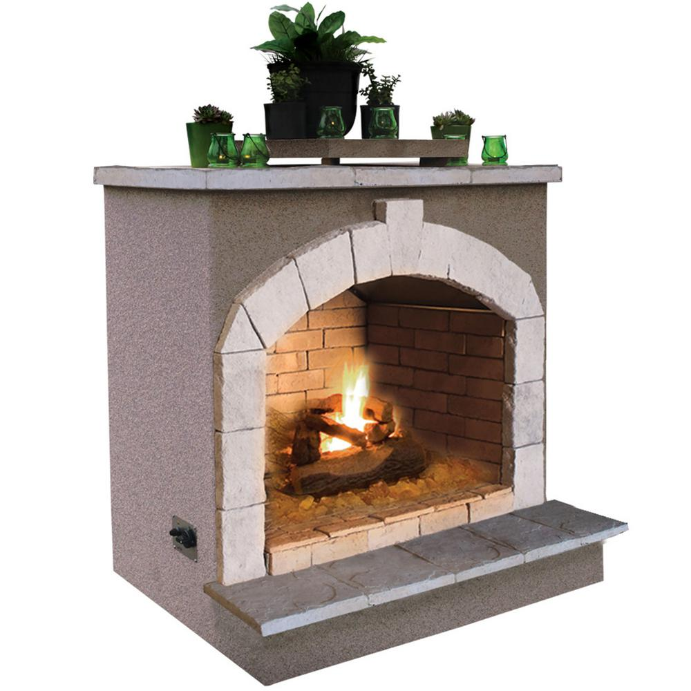 Cal Flame 48 In Propane Gas Outdoor Fireplace Frp906 2 1 The Home