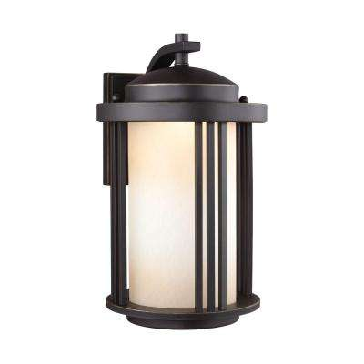 Crowell 1-Light Medium Antique Bronze Wall Lantern