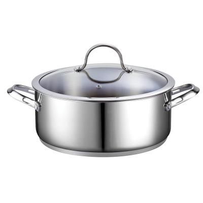 Classic 7 qt. Round Stainless Steel Dutch Oven with Glass Lid