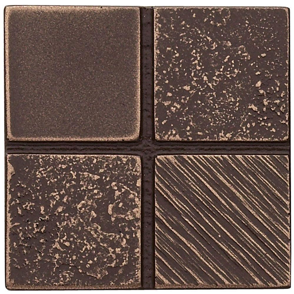 Weybridge 2 in. x 2 in. Cast Metal Mosaic Dot Classic Bronze Tile (10 pieces / case)