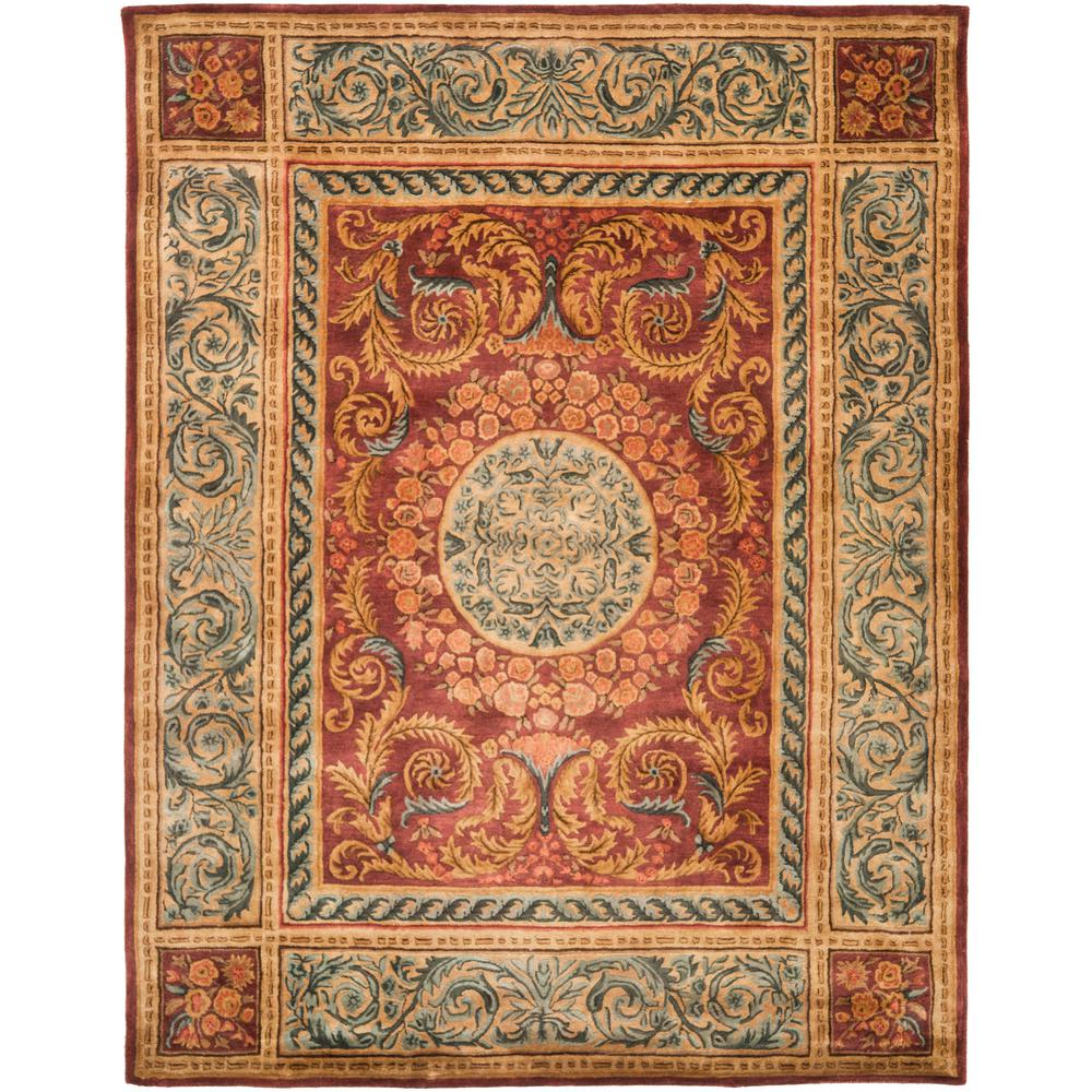 Safavieh Empire Burgundy/Gold 8 Ft. X 10 Ft. Area Rug