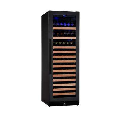 Single Zone 23.42 in. 131-Bottle Convertible Wine Cooler in Black