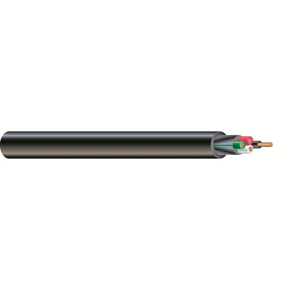 100 ft. 8/4 600-Volt CU Black Flexible Portable Power SOOW Cord